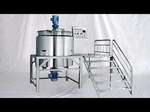 3000L vacuum homogenizer chemical materials process reactor tank pot Machine à faire du shampooing