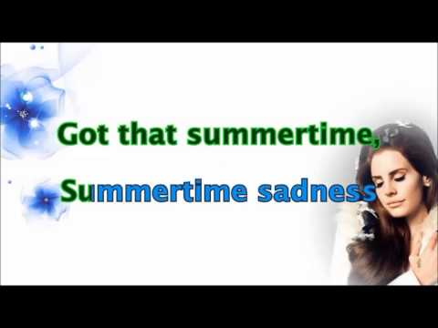 Lana Del Rey - Summertime Sadness Lyrics/Karaoke