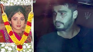 EMOTIONAL Arjun Kapoor Finally Breaks Down In Front Of Media Outside Sridevi's House