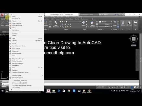 How To Clean Drawing In AutoCAD 2014, 2016, 2017, 2018, 2019
