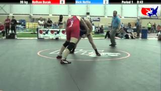 Nathan Burak vs. Nick Heflin at 2013 ASICS University Nationals - FS