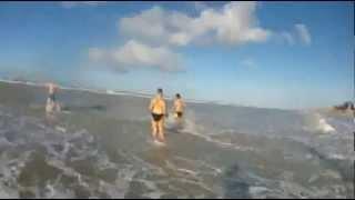 Bain de mer du 1janv2013 à Berck sur Mer