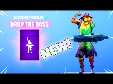 NEW! DROP THE BASS EMOTE! (New Item Shop) Fortnite Battle Royale