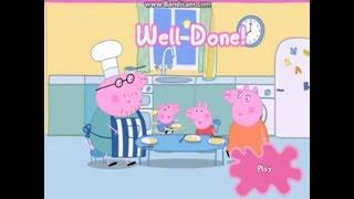Свинка Пеппа. Мультфильм. Папа Свин печет блины.Обзор игры..  Peppa Pig Pancakes