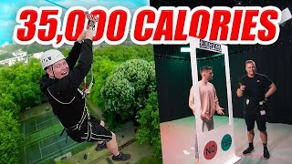 I BURN 5,000 CALORIES EVERYDAY FOR A WEEK ( 35K CALORIE CHALLENGE )