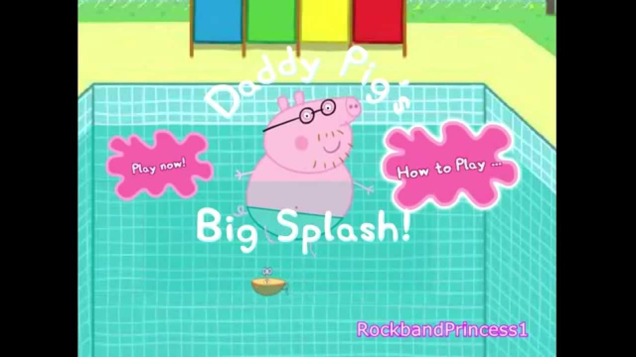 Peppa Pig Games Peppa Pig English Cartoon Video Game Peppa Pig Swimming Youtube