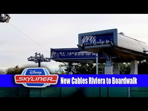 Disney Skyliner Construction Update New Cables Boardwalk and Epcot Progress
