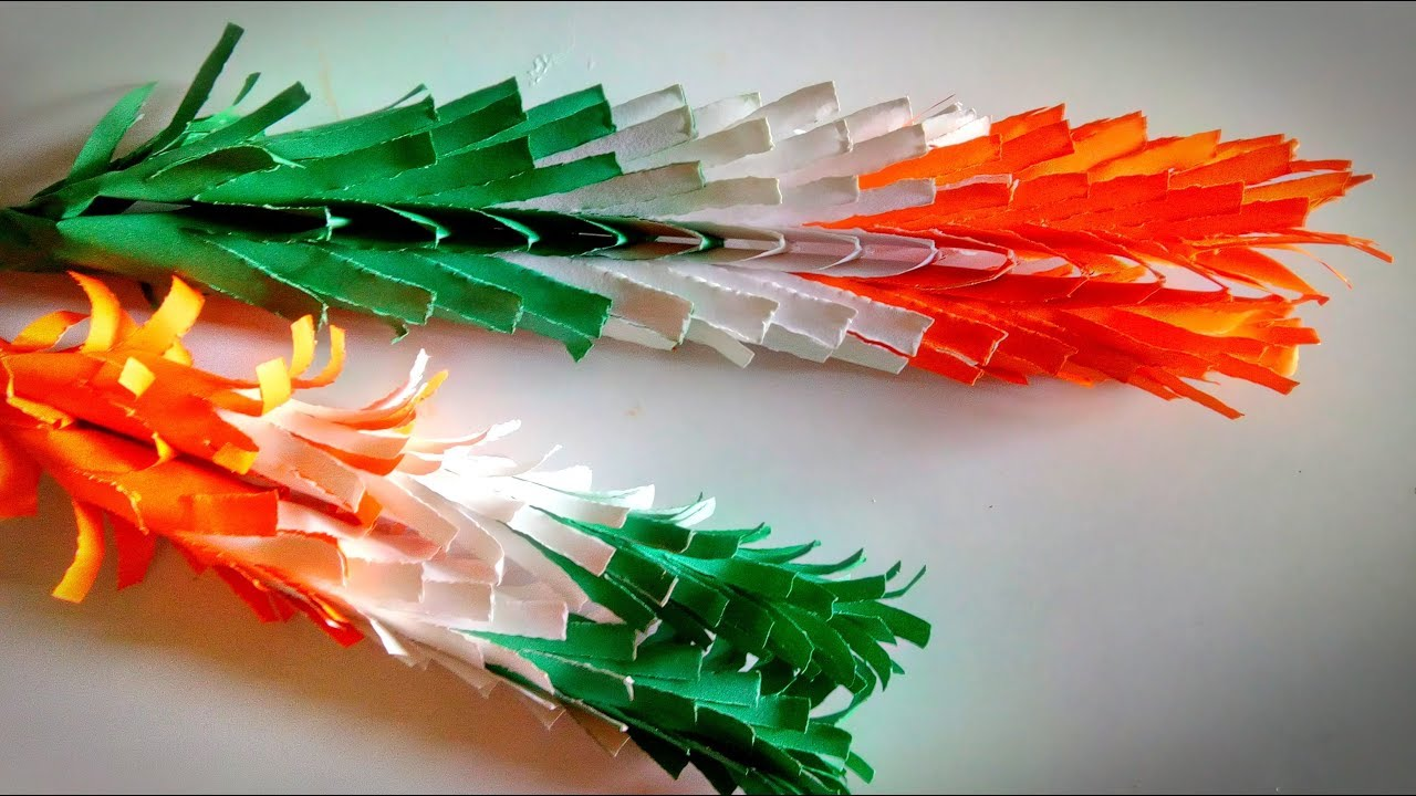 August 15 Paper Flower Crafts Republic Day Craft Ideas At School