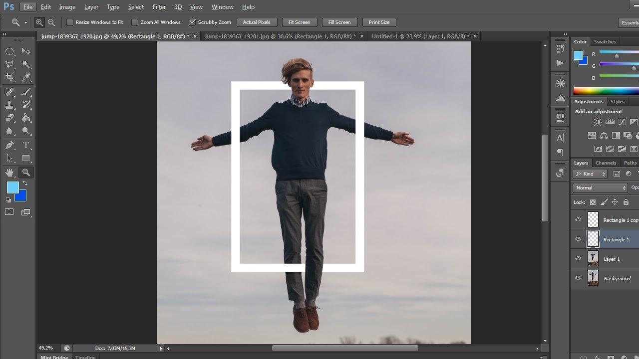 Cara Membuat Sebagian Objek Dibelakang Dengan Photoshop Youtube
