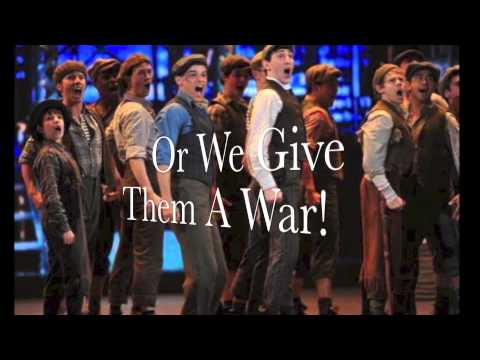 """""""The World Will Know"""" from Newsies Lyric Video"""