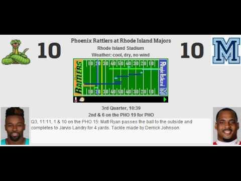 Week 12: Phoenix Rattlers (10-1) @ Rhode Island Majors (3-8)