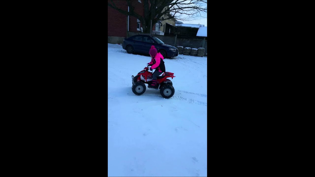 Peg Perego Outlaw with bicycle tire mod. - YouTube