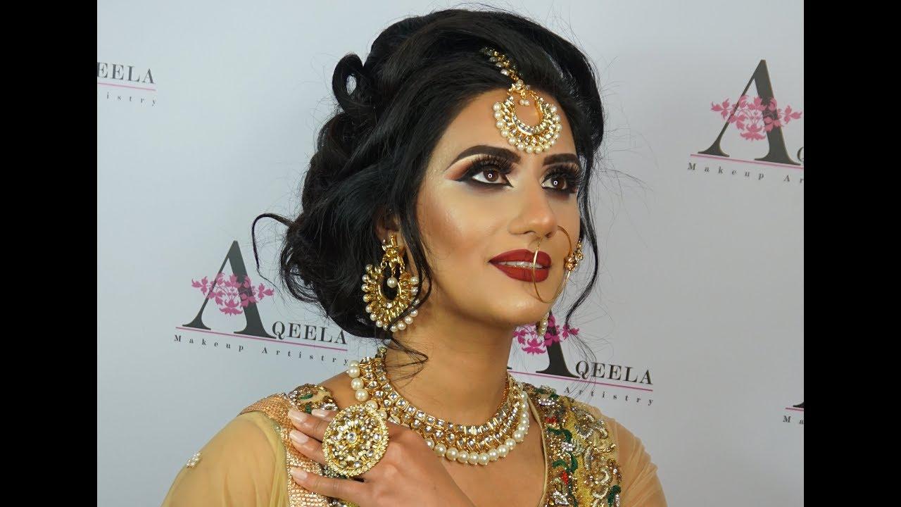 traditional pakistani bridal makeup & hair makeover