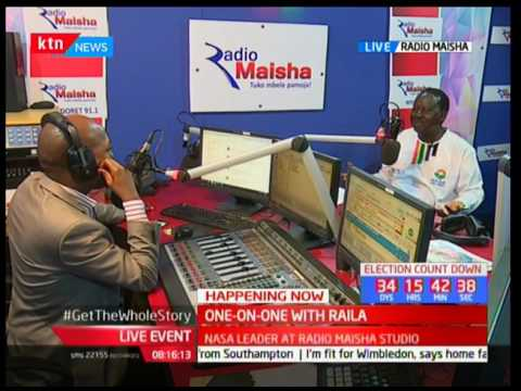 Morning Express : One-on-one with Raila Odinga live on Radio Maisha (Part 1)