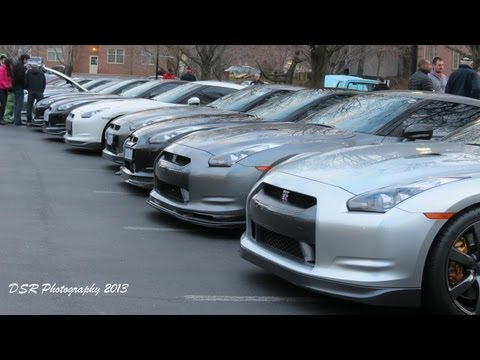 21 Nissan GTR's Takeover Katie's Cars & Coffee