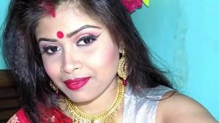 Stunning bengali bridal makeover||bengali bridal makup tutorial