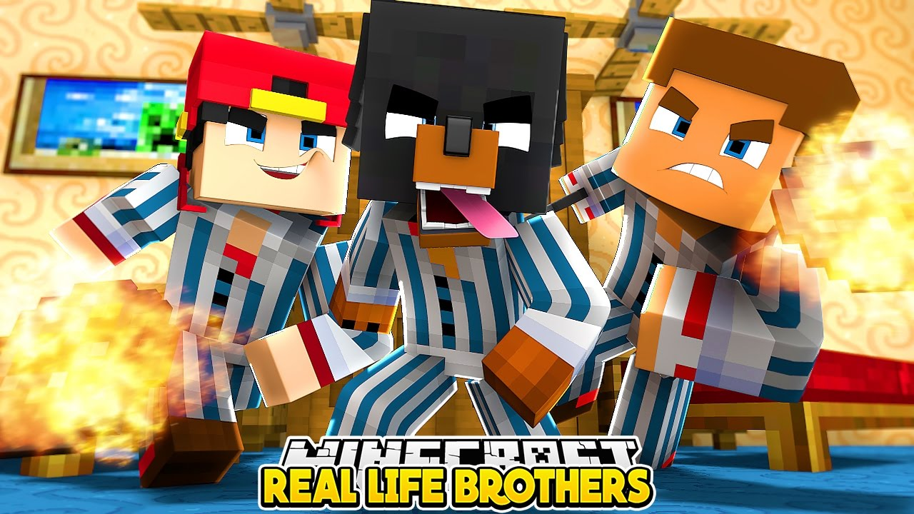Minecraft Bed Wars Real Life Brothers Family Vacation