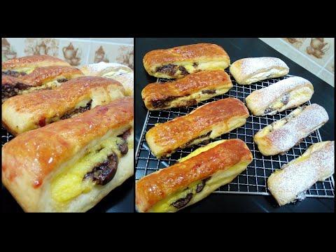 pain-suisse-à-la-crème-pâtissière-الذ-بان-سويس-بكريمة-الحلواني-و-الشكولاطة-بمكونات-جد-بسيطة-😋😋