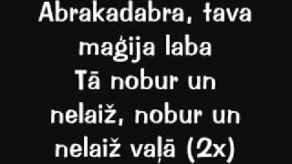 Musiqq - Abrakadabra (vārdi)