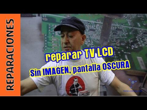 Reparar tv lcd sin imagen pantalla oscura youtube for Reparar pantalla televisor samsung
