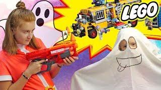Саша и Богдана ловят призраков с LEGO Hidden side: Паранормальный автобус. Розыгрыш наборов LEGO!