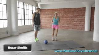 Fat Burning Cardio | Boxer Shuffle | Workout Anywhere