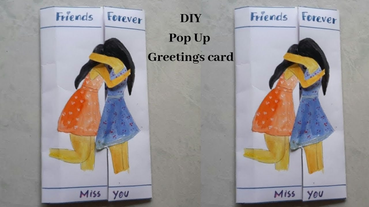 Best Friend Hug Greetings Card Tutorial Youtube Greeting Card Craft Cards For Friends Making Greeting Cards