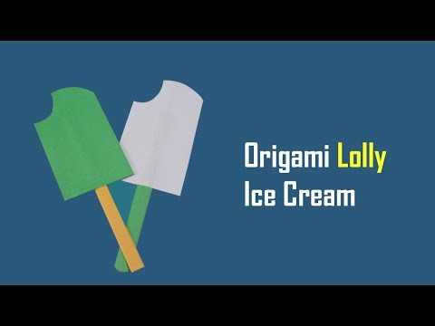 How To Make Paper Ice Cream | Origami Ice Cream Lolly - Origami for Kids - Paper Ice Cream Bites