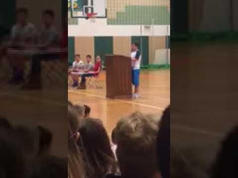 Ryan middle school speech for class president