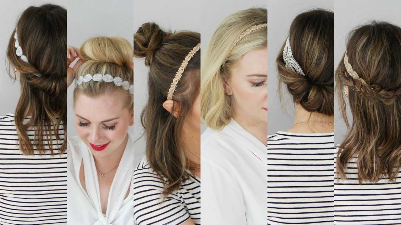 6 Hairstyles With Lace Headbands Youtube