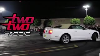 MUSTANG CRASHES INTO CROWD !!! | Big bang car meet