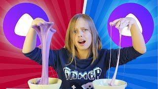 ЧТО?! ОПЯТЬ?! ДВЕ Яндекс Алисы делают слайм из случайных ингредиентов