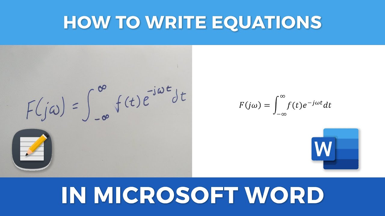 how to write equations in microsoft word  youtube
