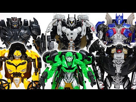 Transformers 5 the Last Knight: Nitro, Crosshairs, Hot Rod, Bumblebee, Optimus Prime! - DuDuPopTOY