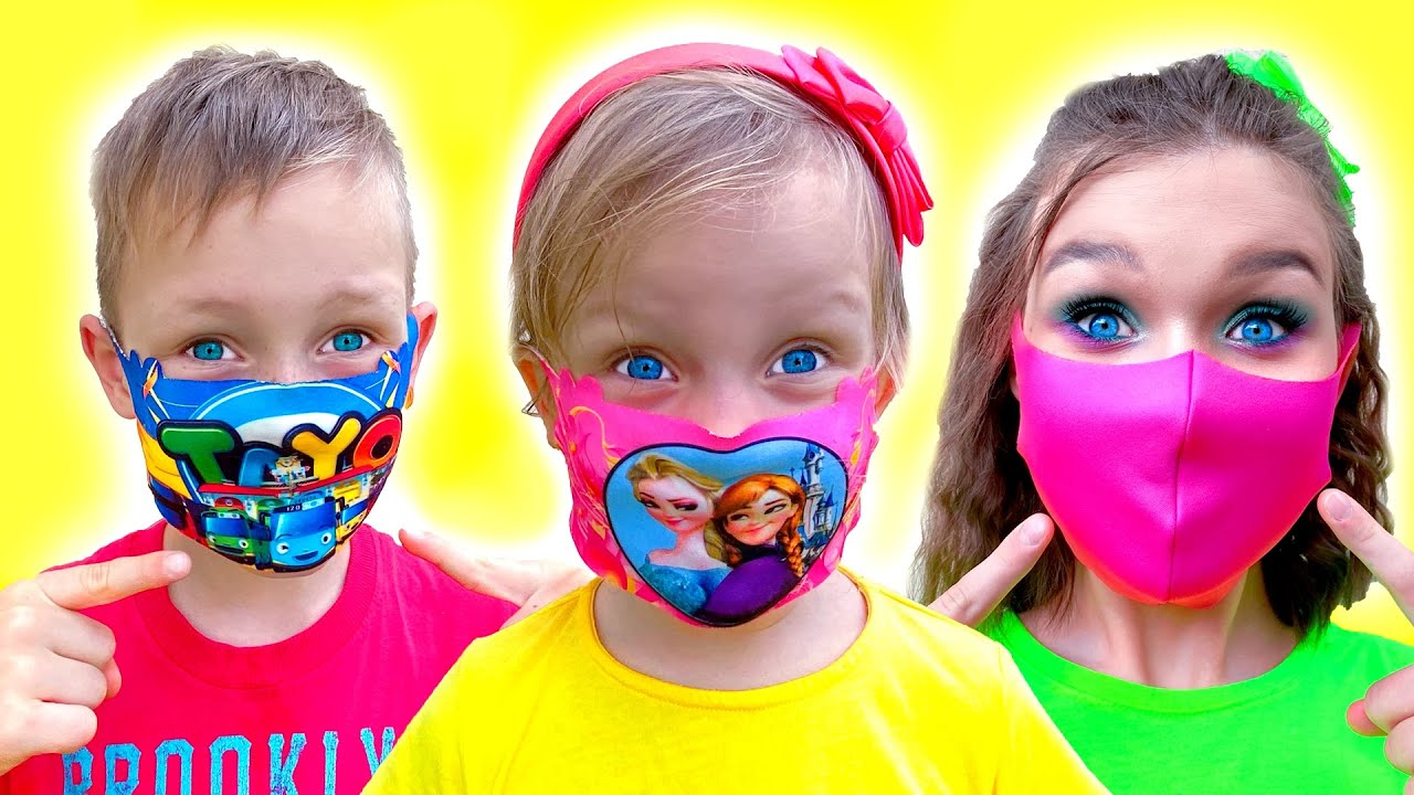 Wear your Mask Song with Alex and Nastya
