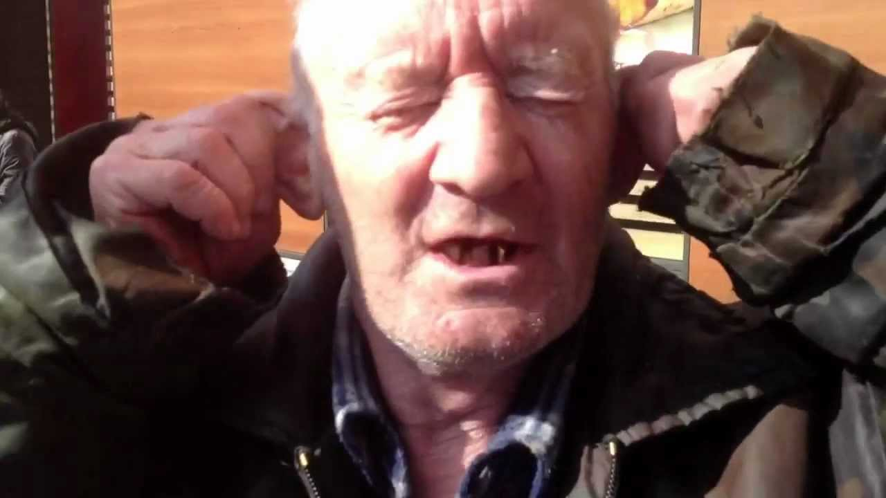 Дед с тёлкой