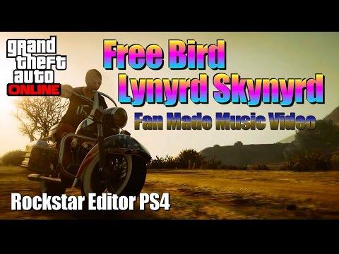 Free Bird - Lynyrd Skynyrd - fan made Music Video - GTA 5 - Rockstar Editor PS4