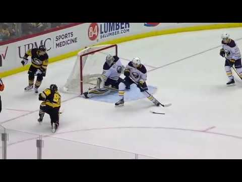 Evgeni Malkin pretty pass to Kessel game tying goal vs Sabres (2017)