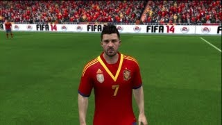 FIFA 14: Spain National Team Player Faces