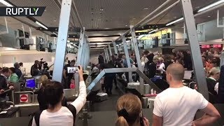 Сутки в аэропорту: видео из Домодедова, откуда не могут вылететь пассажиры «ВИМ-Авиа»