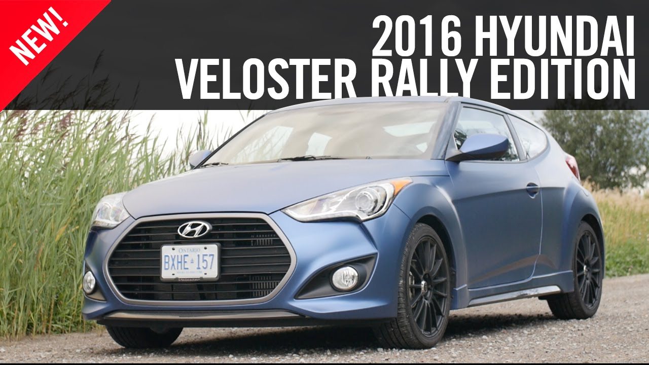 2016 Hyundai Veloster Rally Edition First Drive Review Youtube