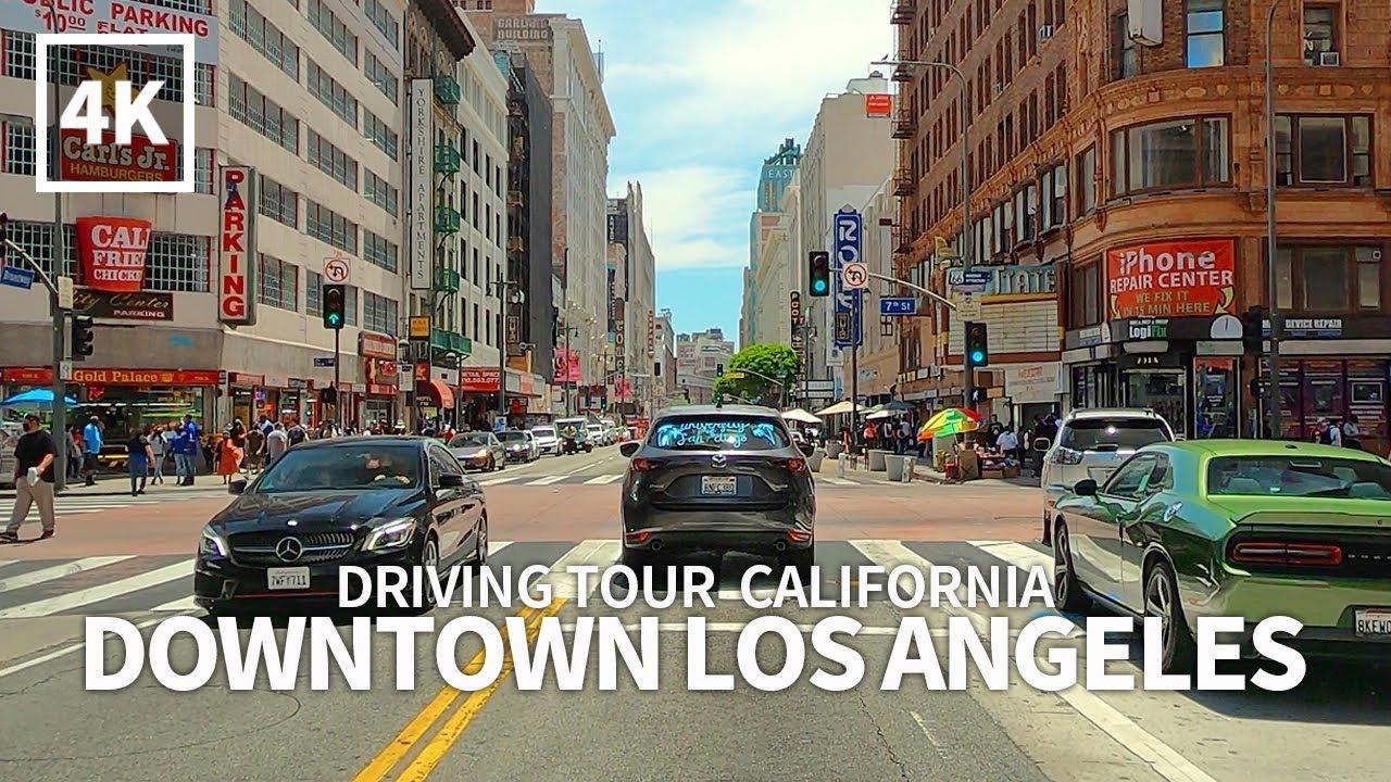 [Full Version] Driving Downtown Los Angeles DTLA, California, USA, Travel, 4K UHD