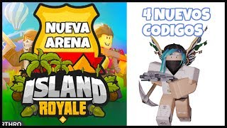 4 NEW CODES ISLAND ROYALE UPDATE NEW ARENA ISLAND ROYALE ROBLOX