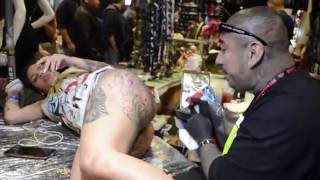 Repeat youtube video BIG STOMPER - No Limits Tattoo Convention NYC 2016 (BLACK & GREY TIME-LAPSE) HD
