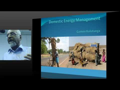 MESC PUBLIC LECTURE : Energy Needs and Options for the Domestic Sector