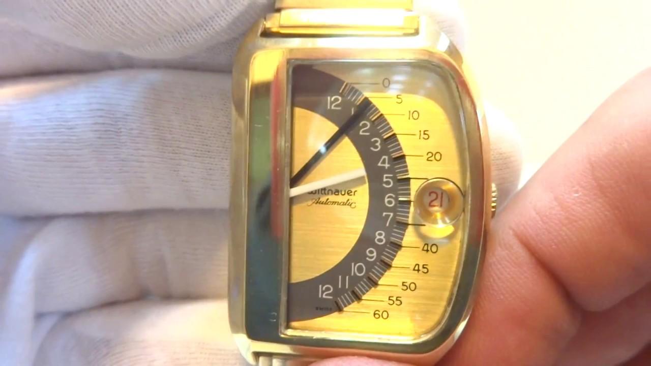 Wittnauer Watch Value >> Vintage Wittnauer Futurama Retrograde Sector Jump Watch