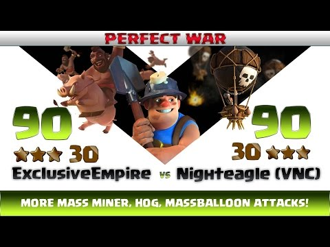 Clash of clans | Exclusive Empire vs Nighteagle ( RoyalsofWar ) | 30:30 Perfect War
