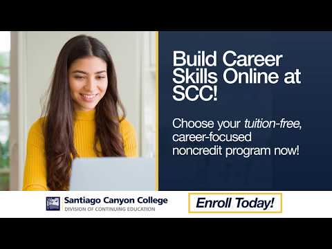 Santiago Canyon College | Build Career Skills Online