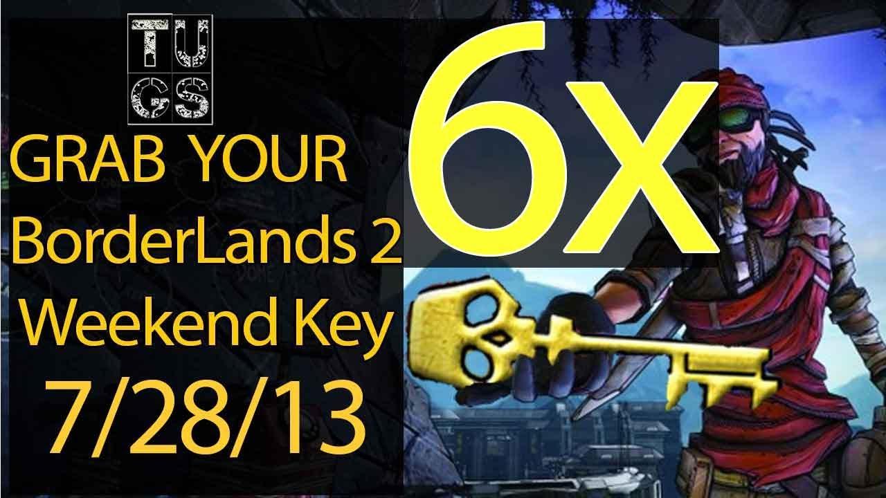 6X Free Golden Key codes SHIFT CODE Borderlands 2 Mac, PS3 ... Borderlands 2 Golden Key Shift Codes
