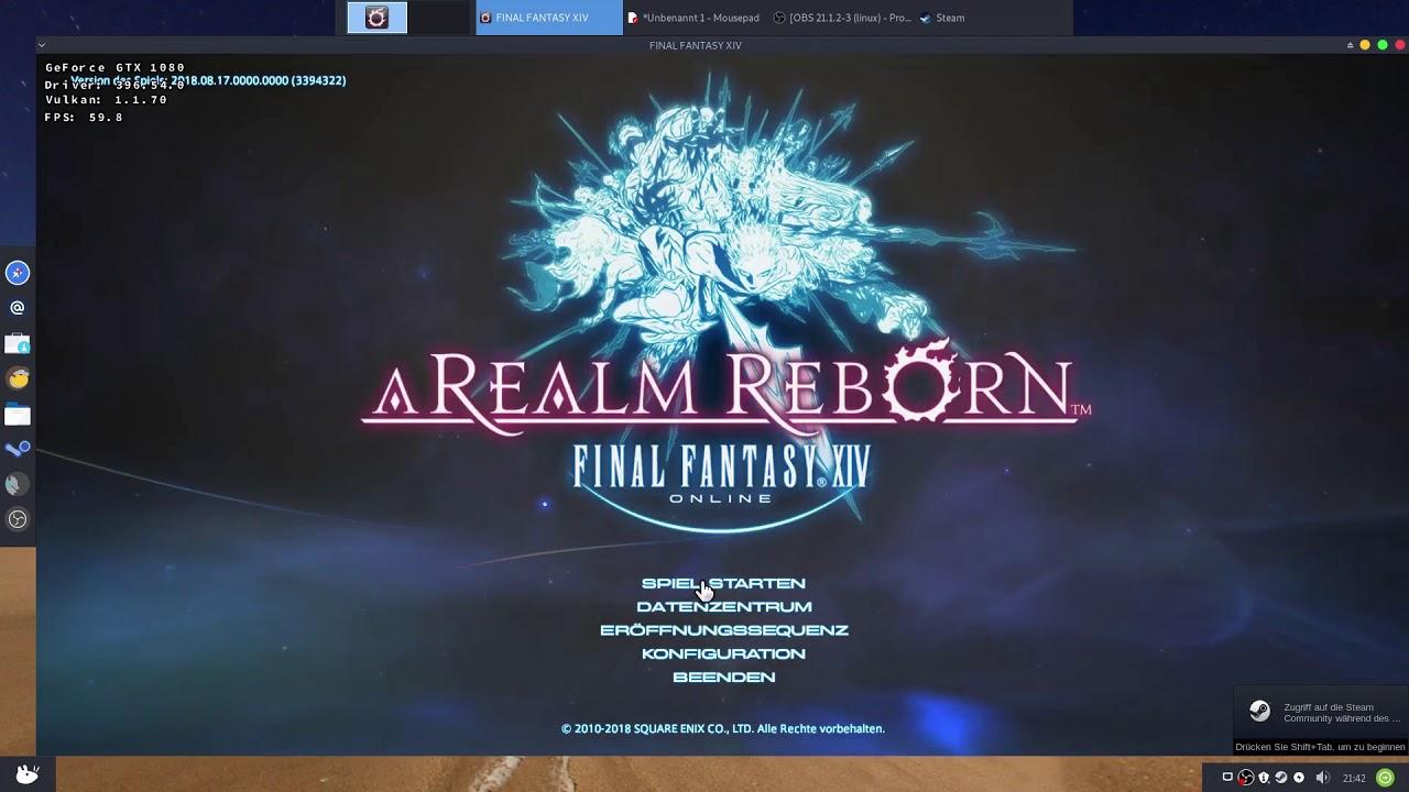 Final Fantasy 14 (FFXIV) Steam Play Proton DXVK Tutorial